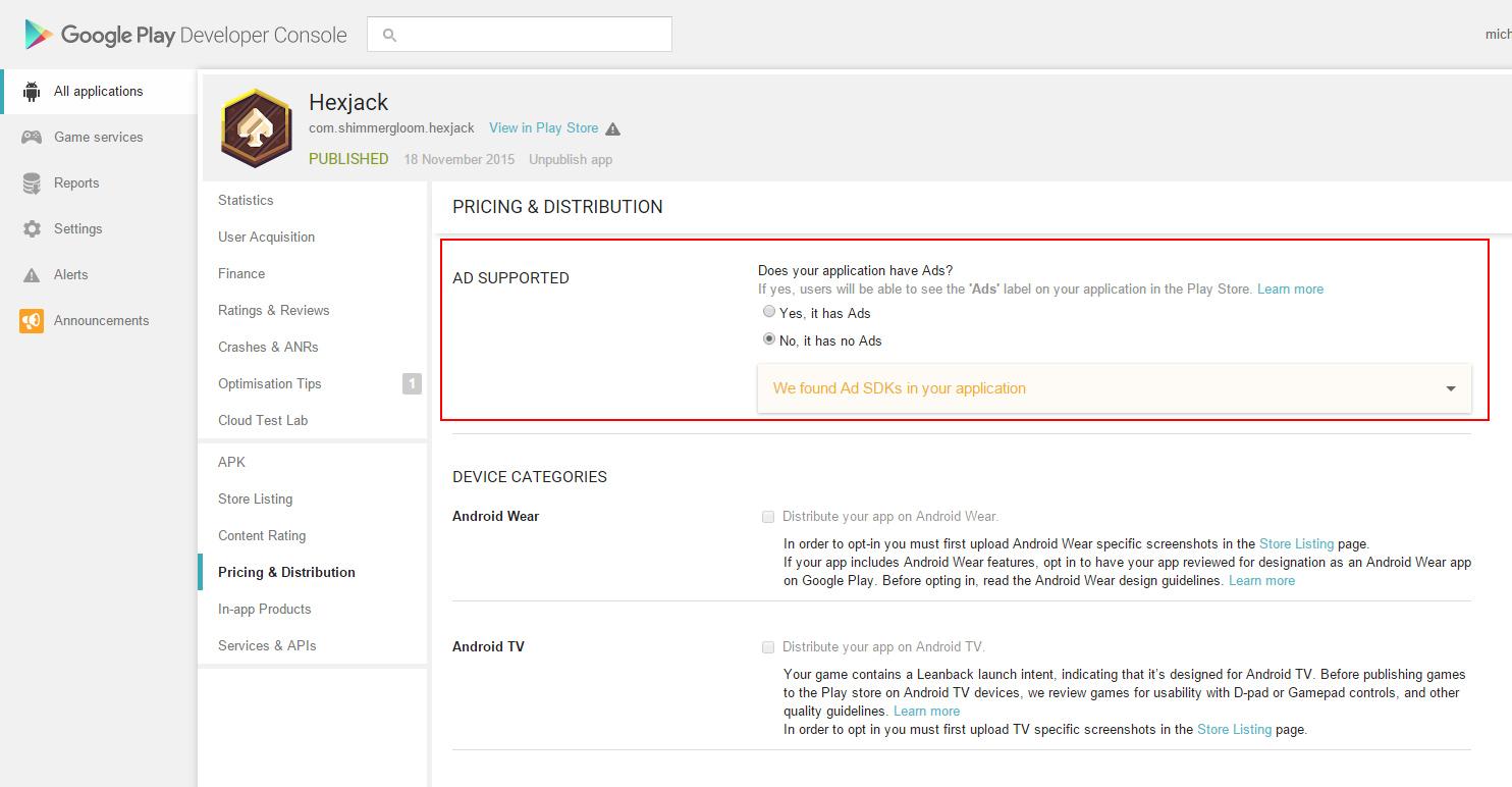 Google veut signaler sur le Play Store les applications avec publicité