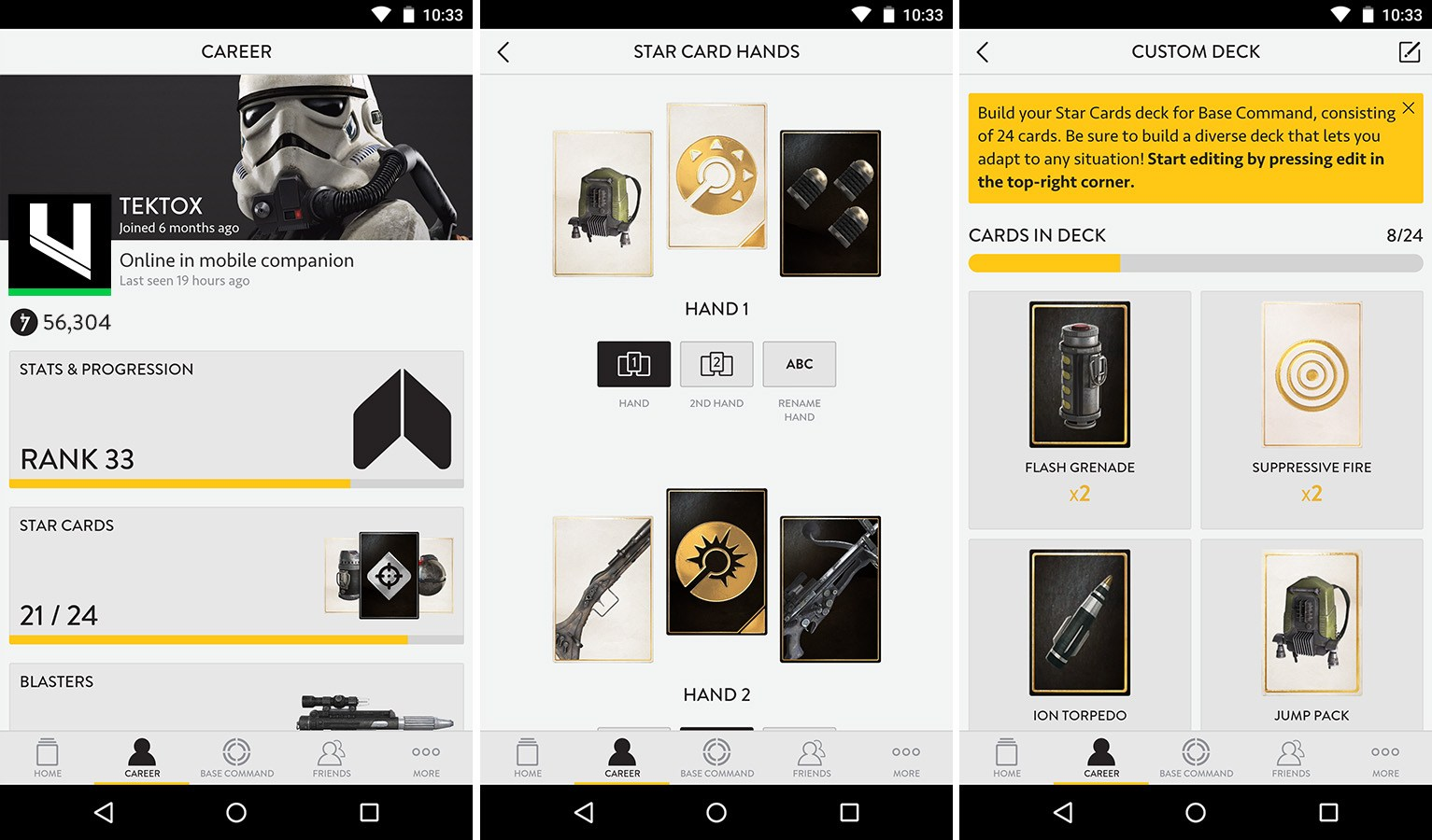 Star Wars Battlefront a aussi droit à son application compagnon