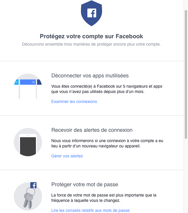 Facebook étend ses «Security Checkup» aux mobiles sous Android