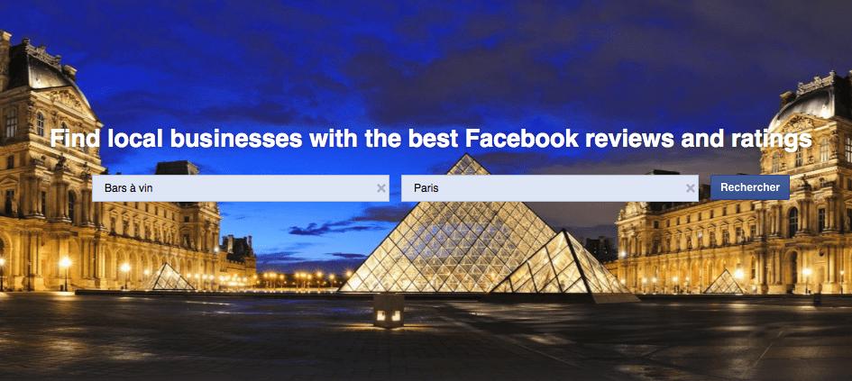 Facebook veut devenir Yelp, voire un peu plus