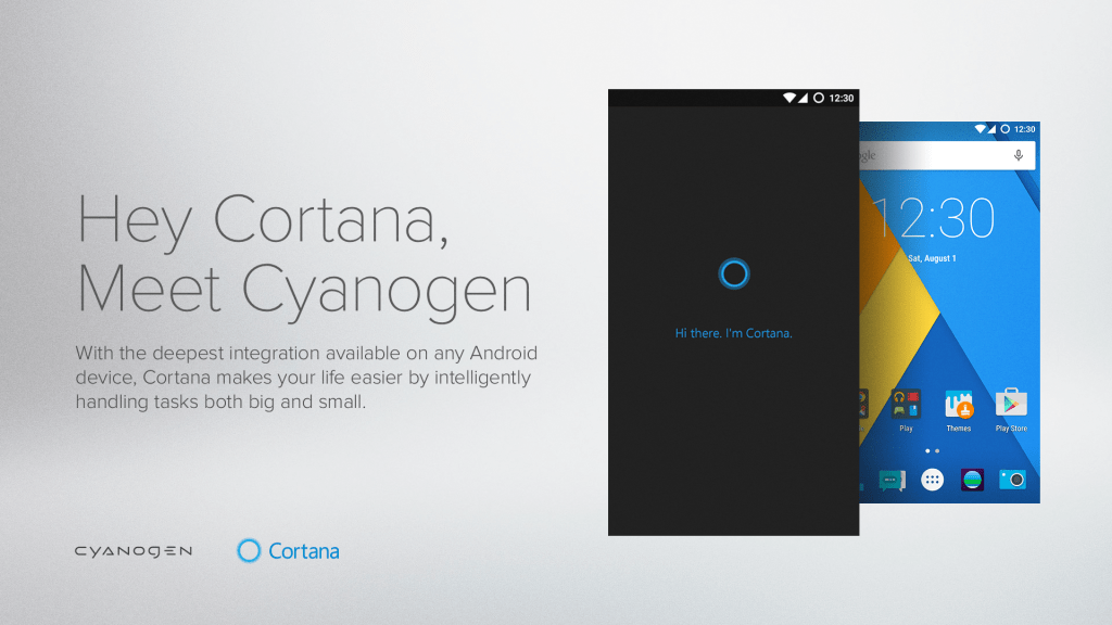 Entre Android et Cyanogen, Cortana a choisi son favori