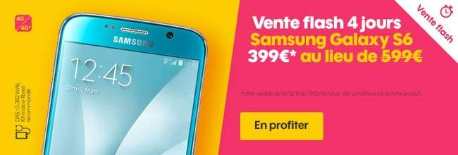 Galaxy S6 : Sosh propose une vente flash à 399 euros