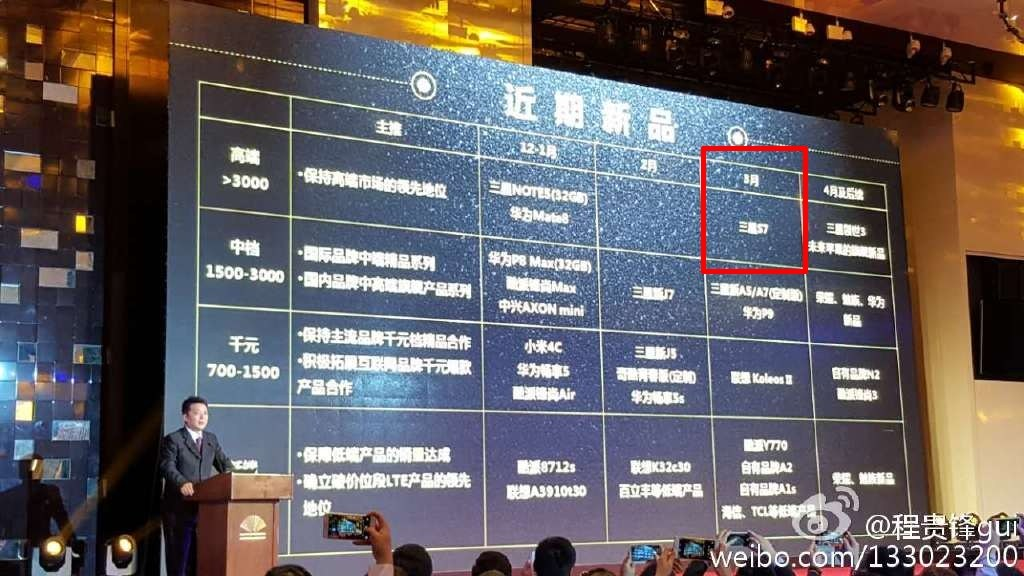 Samsung Galaxy S7 : l'opérateur China Mobile prévoit sa sortie pour mars 2016