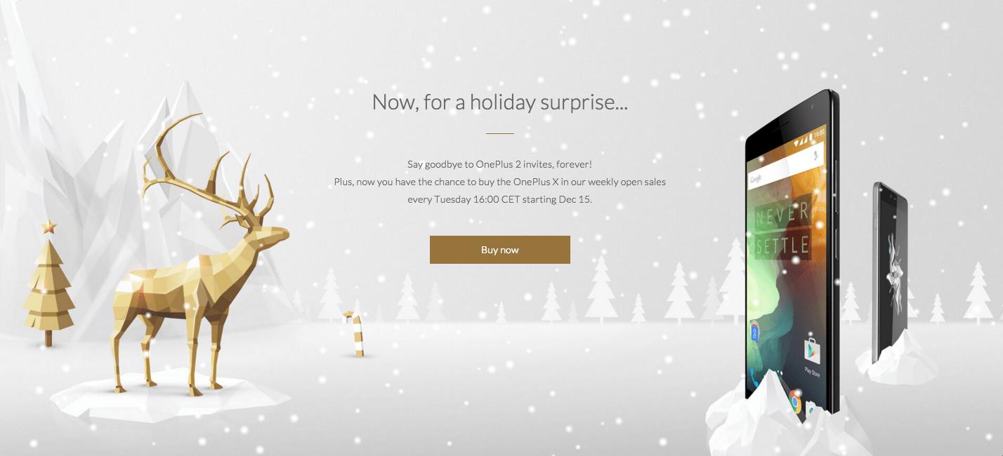 OnePlus X : le mardi, les invitations ne sont plus nécessaires