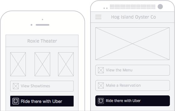 Uber veut s'inviter dans les applications tierces