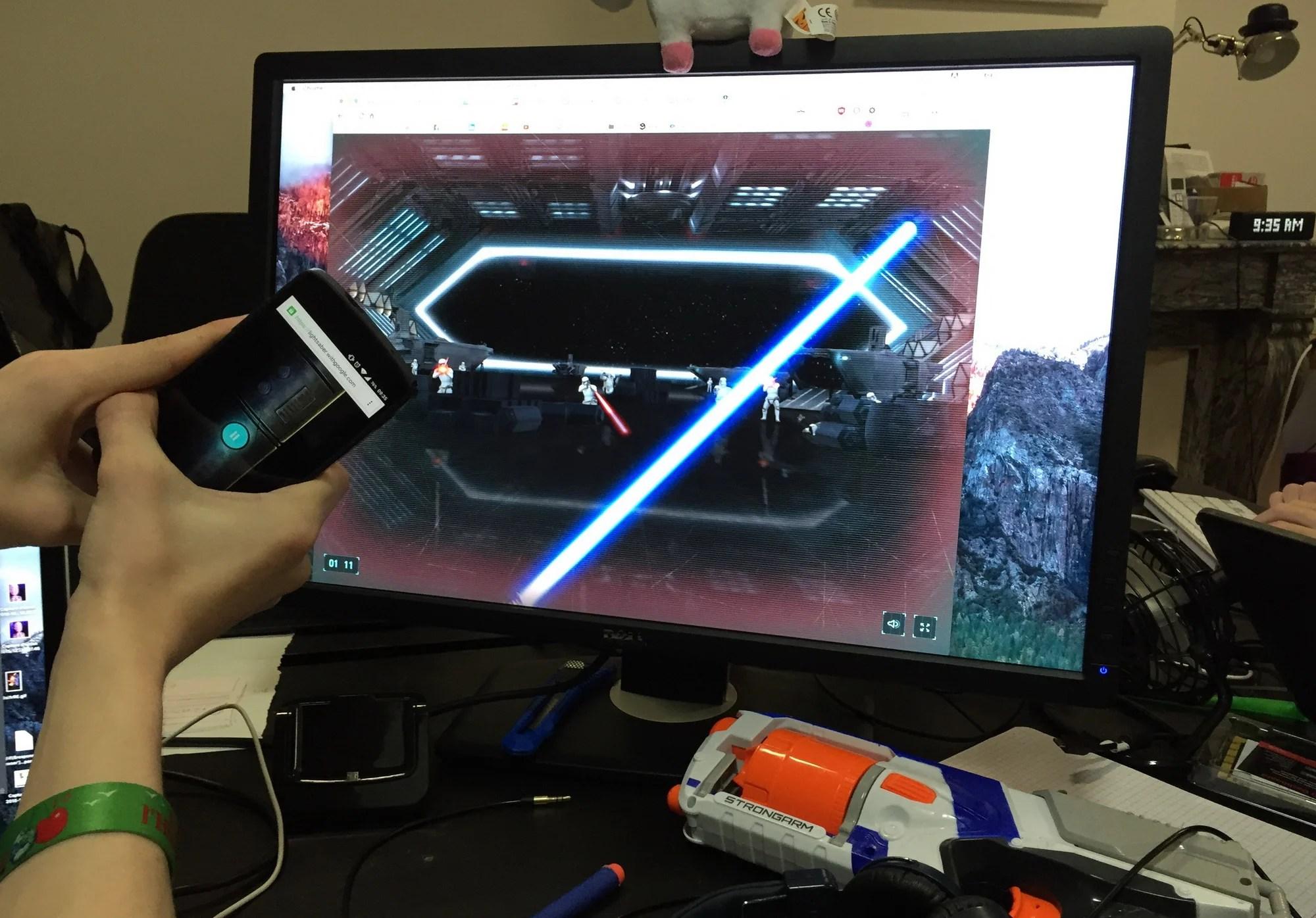 Pour la sortie de Star Wars, Google transforme votre smartphone en sabre laser