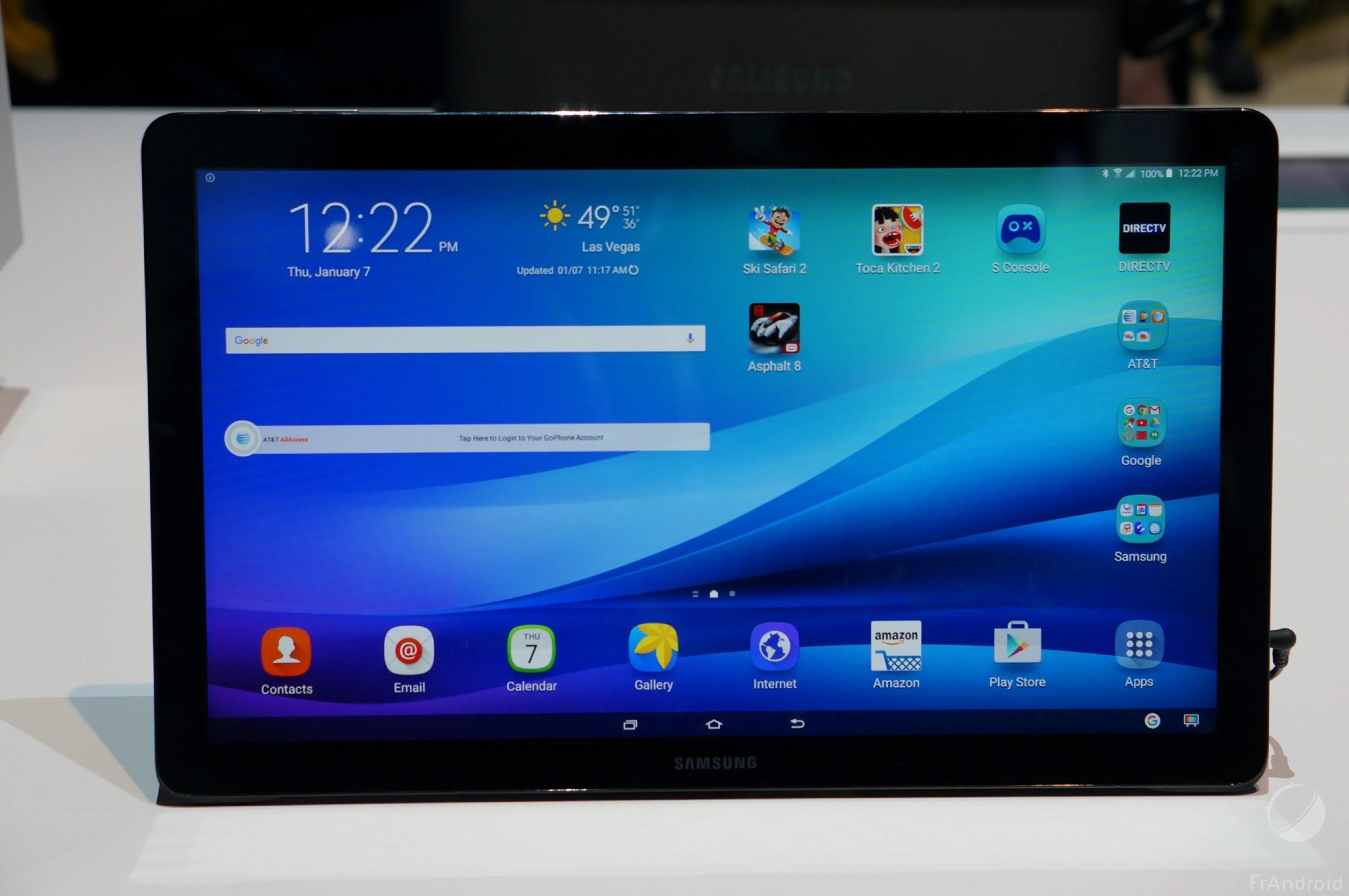 Prise en main de la Samsung Galaxy View, la tablette transportable de 18,4 pouces