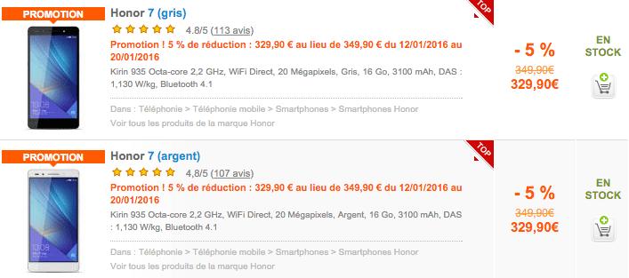Bon plan : le Honor 7 est encore en promo à 279,90 euros avec une carte microSD offerte