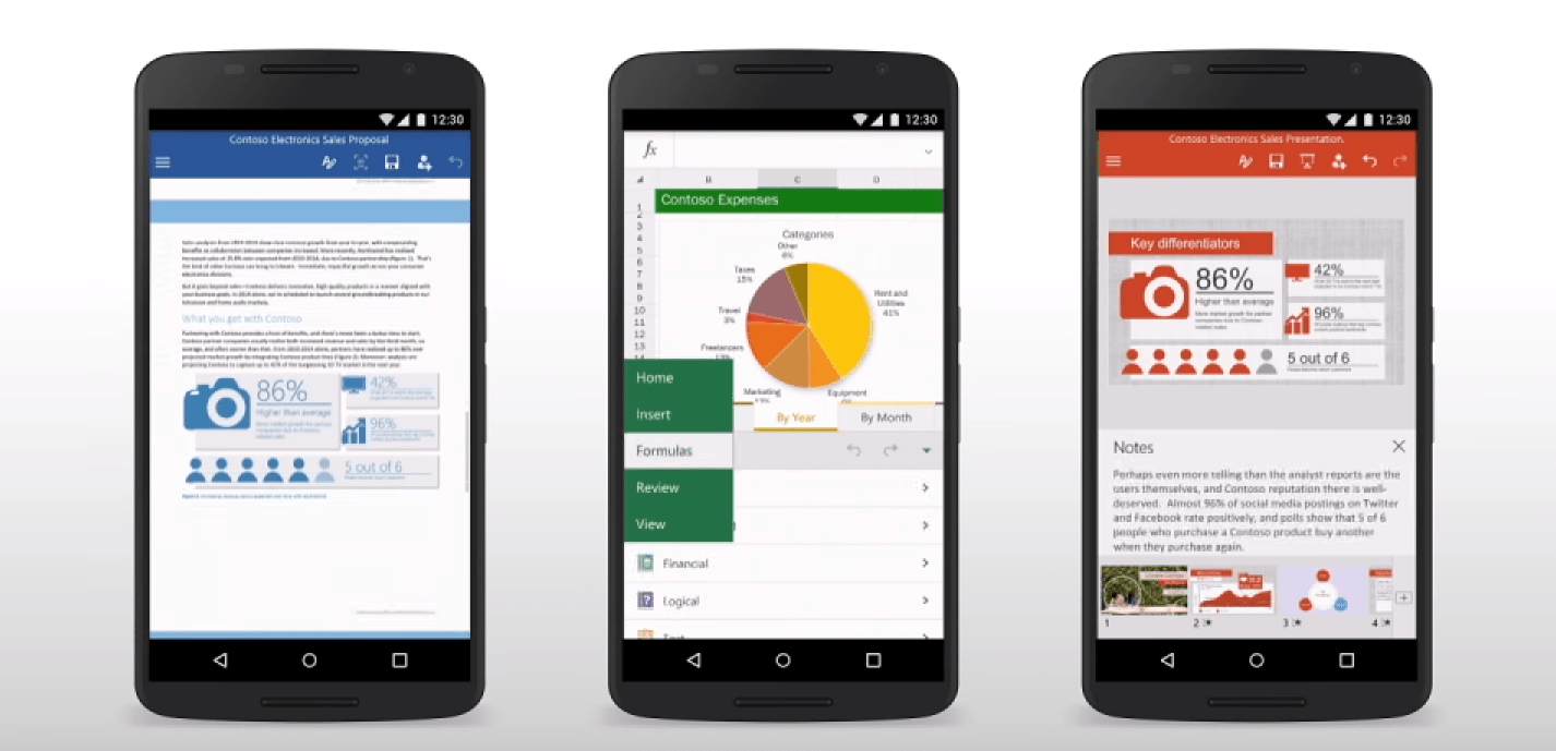 Word, Excel et PowerPoint : Microsoft met à jour ses apps Android