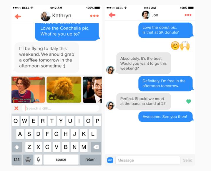 Tinder s'ouvre aux GIF, aux Likes et à la galerie de votre téléphone