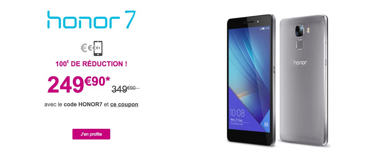 Bon plan : le Honor 7 est à 249,90 euros, dont 50 euros d'ODR