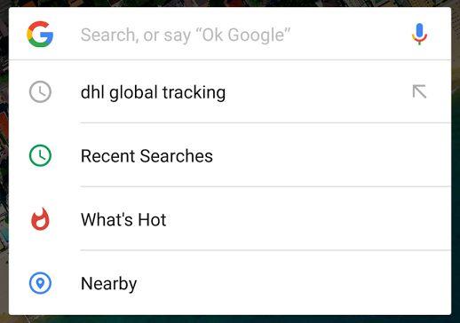 De nouveaux contenus s'invitent dans la barre de recherche Google sur Android