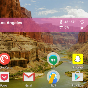 Le mode paysage fait son retour sur le Google Now Launcher