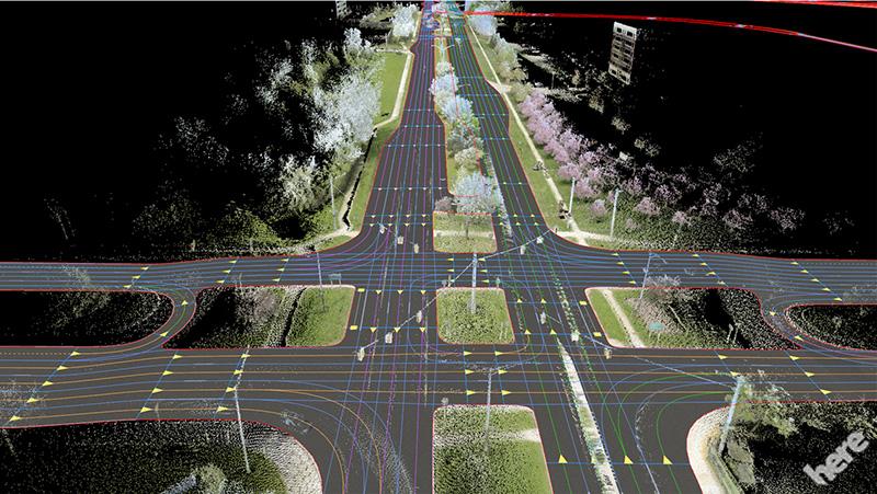 Here Maps HD, pour des trajets plus confortables en voitures autonomes