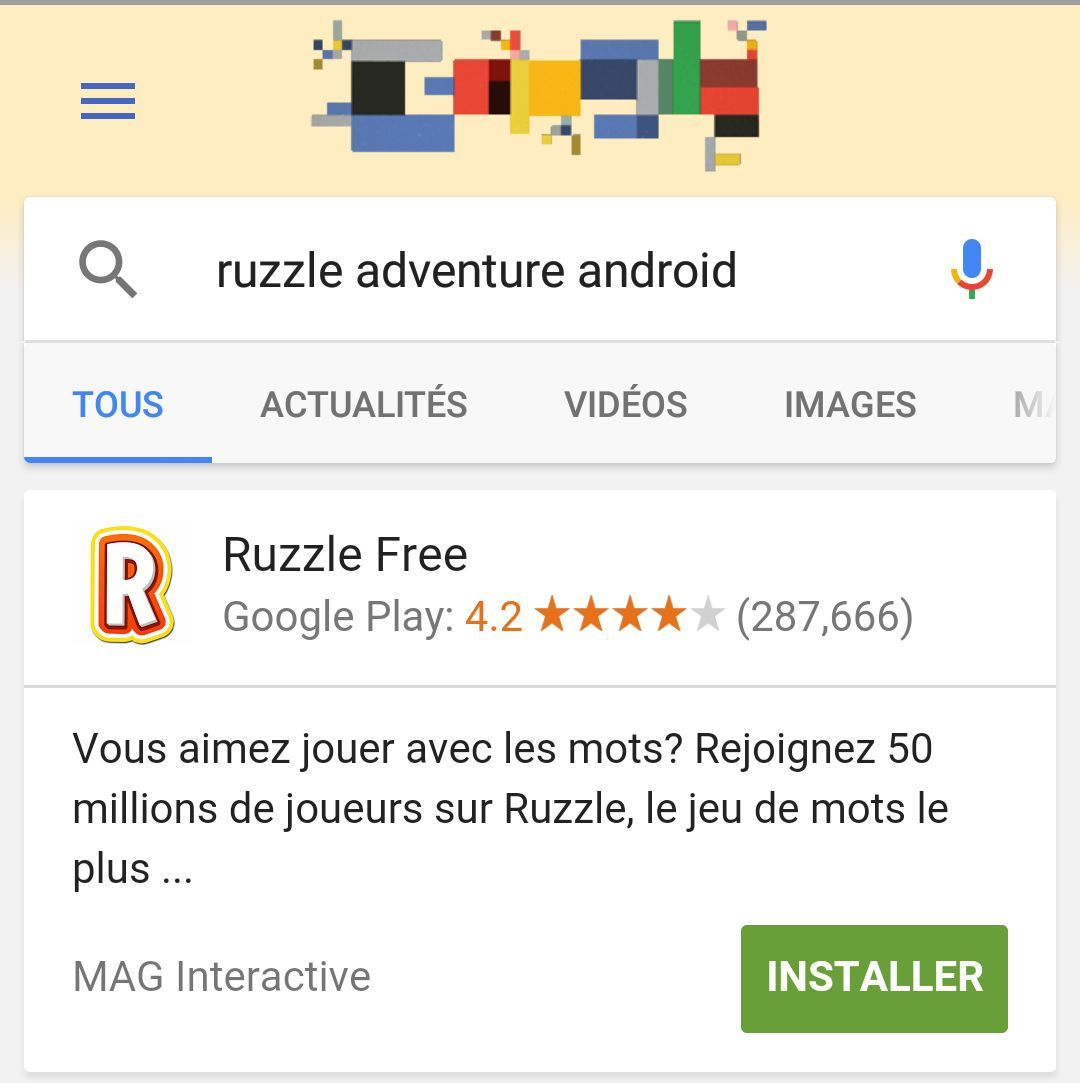 Google Search permettra bientôt d'installer des applications sans passer par le Play Store