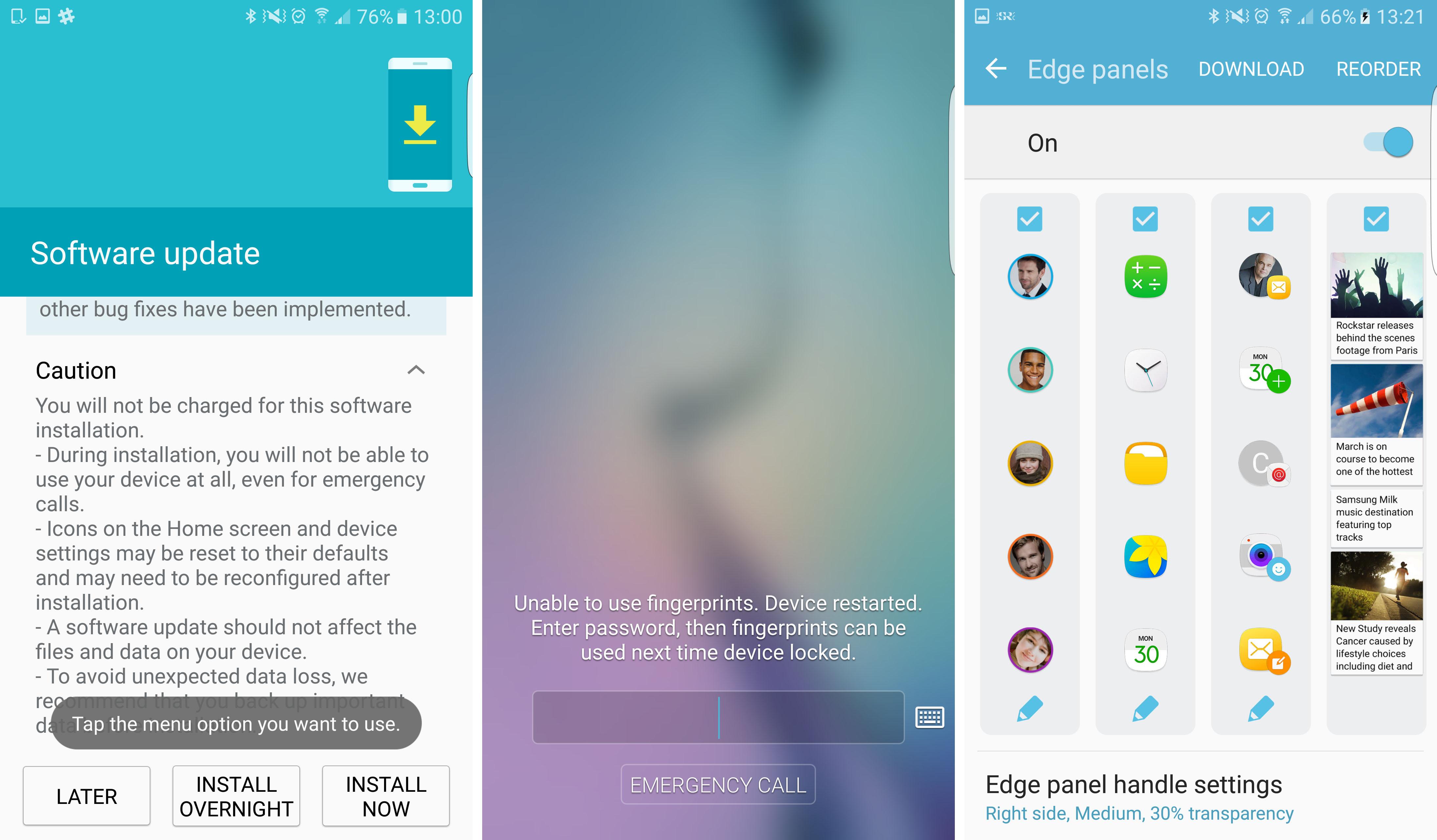 Samsung Galaxy S6 / S6 edge : la bêta de Marshmallow passe à Android 6.0.1