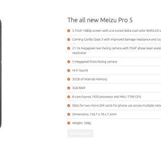 Le Meizu Pro 5 Ubuntu Edition est officiel