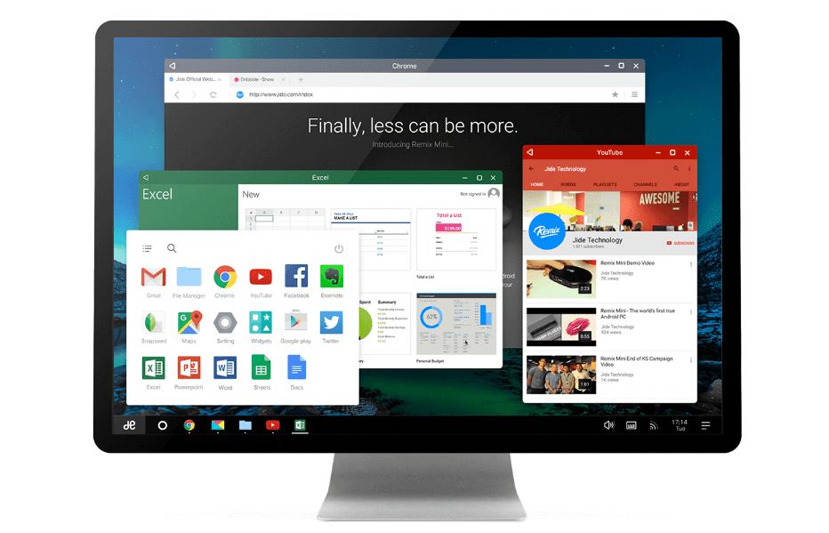 MWC 2016 : La bêta Remix OS pour PC arrive et apporte le support du 32 bits