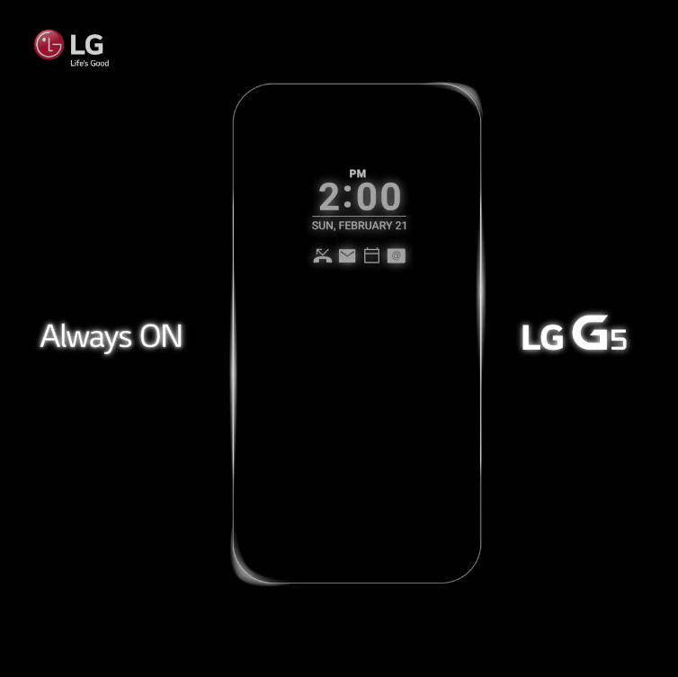 Le LG G5 bénéficiera d'une intrigante fonction Always On