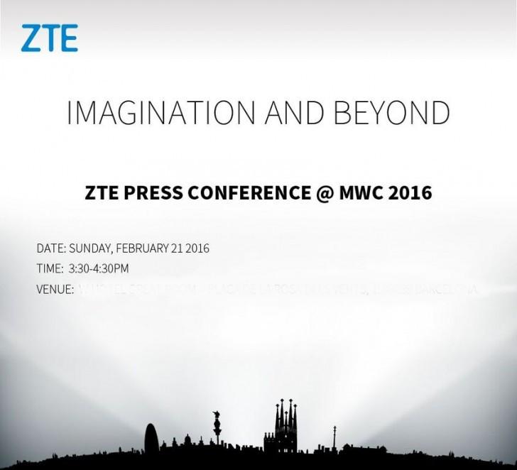 ZTE annonce sa conférence de presse du MWC 2016