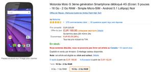 🔥 Bon plan : Le Motorola Moto G (3e gen.) à 149 euros chez Amazon France