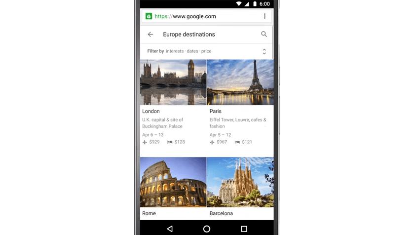 Google lance Destinations, un outil pour planifier ses vacances sur smartphone