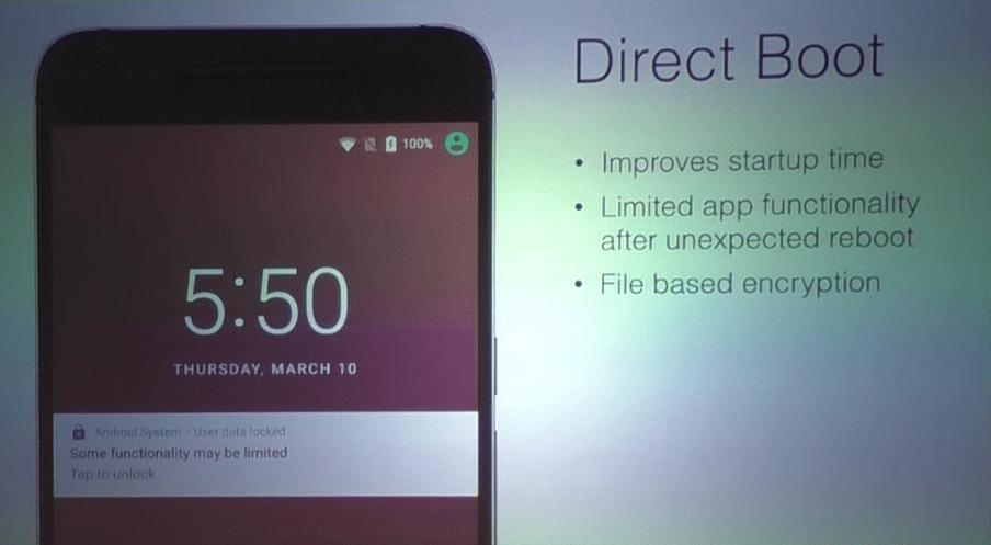 Avec Direct Boot, Android N facilite la vie des smartphones chiffrés
