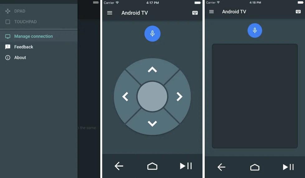 Android TV : l'application télécommande fait ses débuts sur iOS
