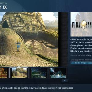 Final Fantasy IX sur Steam, un meli-melo à base d'Android ?