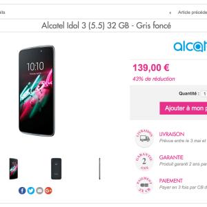 🔥 Bon plan : l'Alcatel Idol 3 (5.5) à 139 euros, une opportunité intéressante