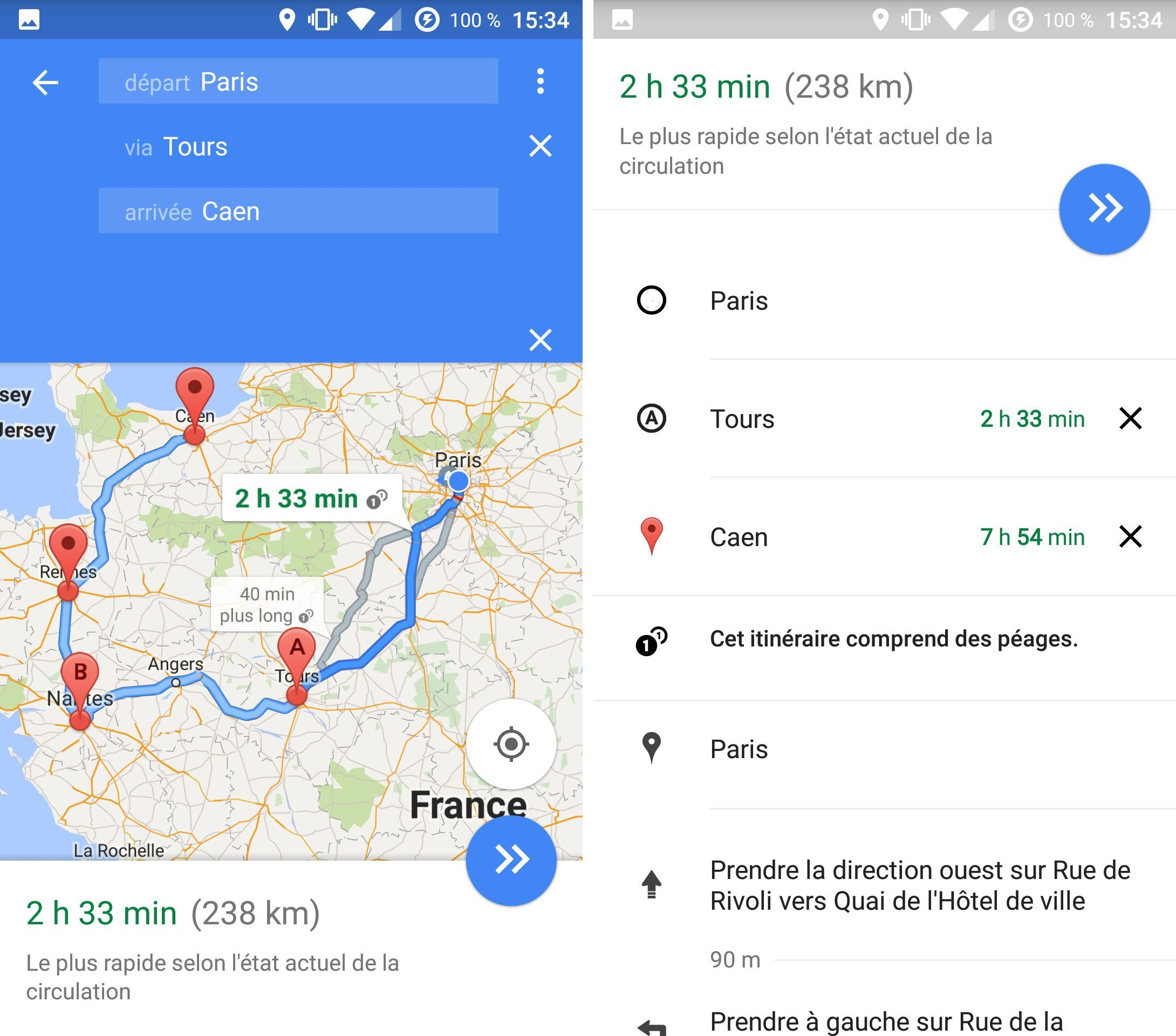 Google Maps comprend enfin les destinations multiples