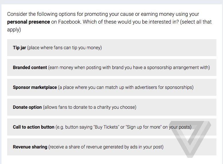 Facebook songe à la monétisation des comptes certifiés