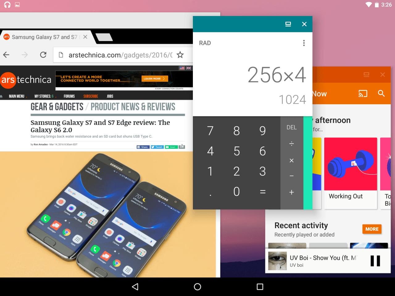 Android N : les «freeform windows» ne seront pas activées sur les Nexus