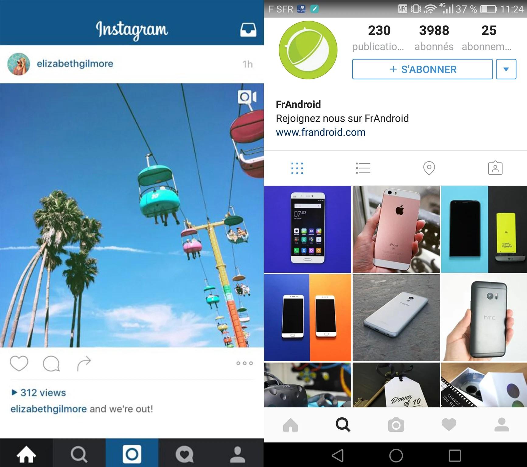 Pour ou contre la nouvelle version d'Instagram ?