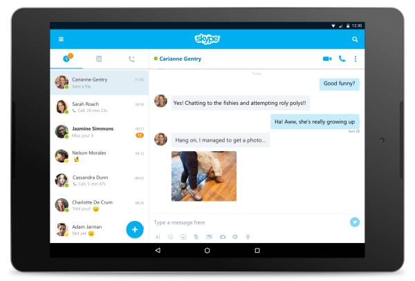 Skype pour Android est désormais adapté aux tablettes