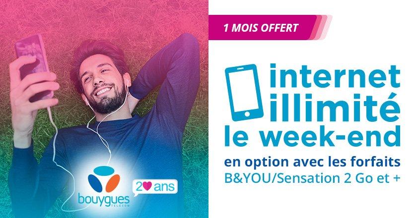 Bouygues Telecom : une nouvelle option pour des week-ends illimités