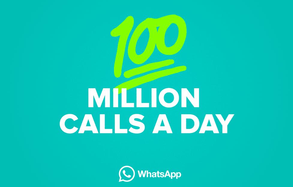 WhatsApp, c'est 100 millions d'appels par jour