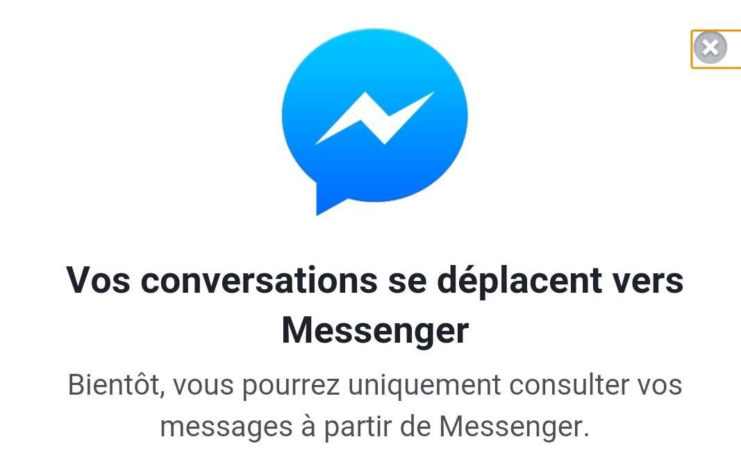 Facebook désactive la messagerie instantanée sur son site mobile