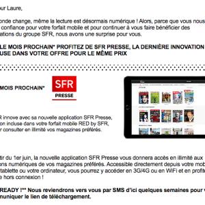 SFR Presse : mauvaise surprise financière pour les clients RED