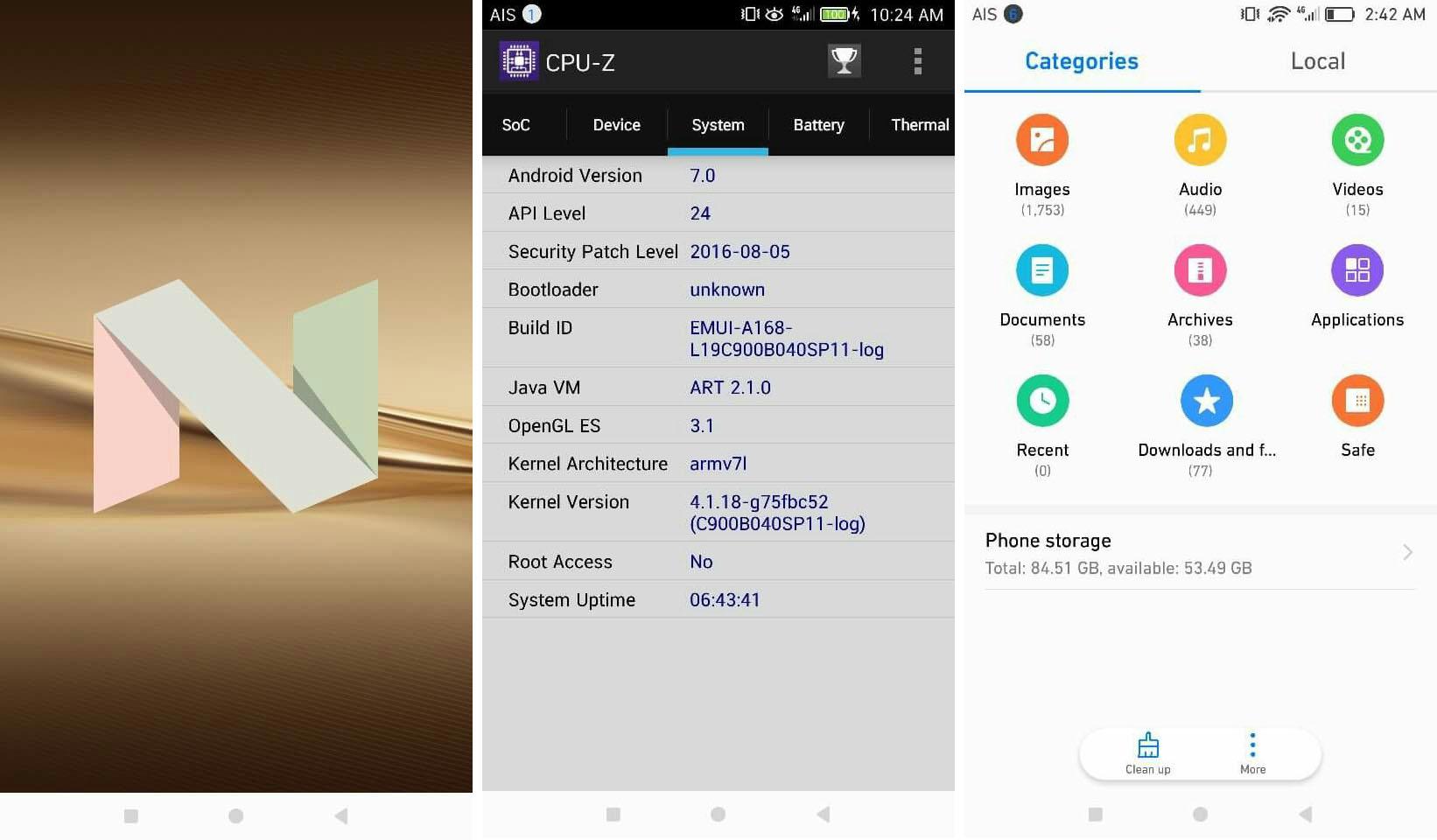 Huawei P9 : une version bêta d'Android 7.0 Nougat en fuite