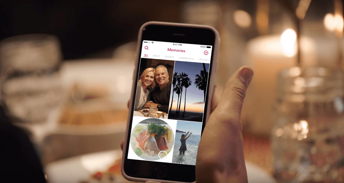 Avec Memories, Snapchat trahit lui aussi son ADN