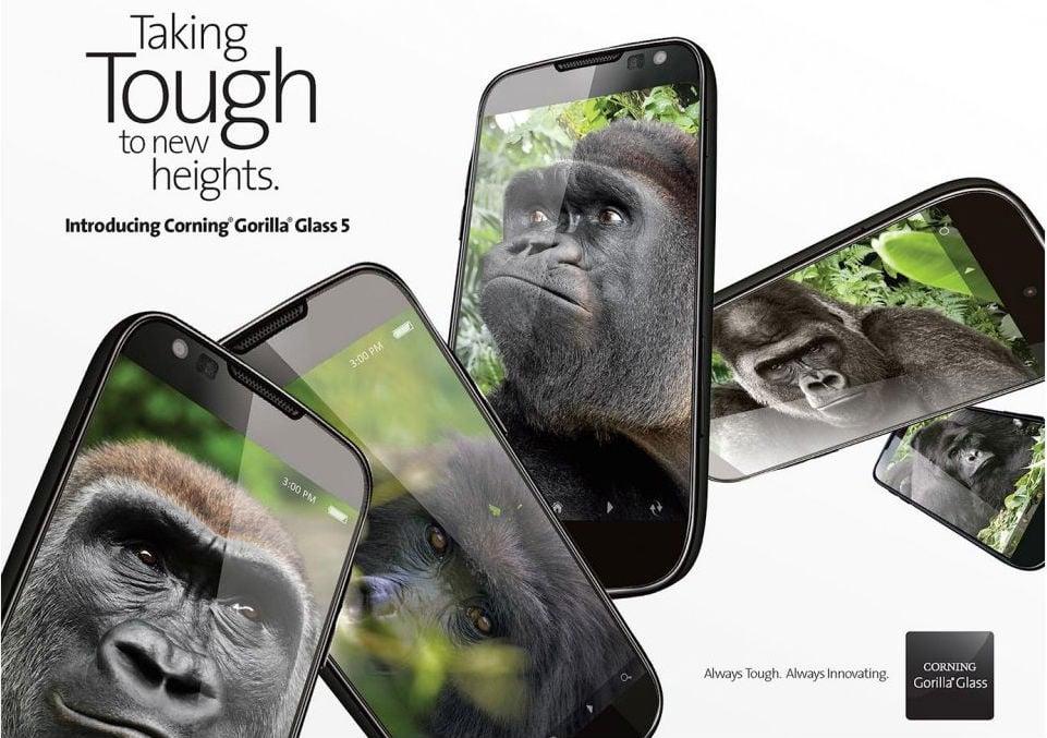 Le verre Gorilla Glass5 est officiel et résiste maintenant à des chutes de 1,6 mètre