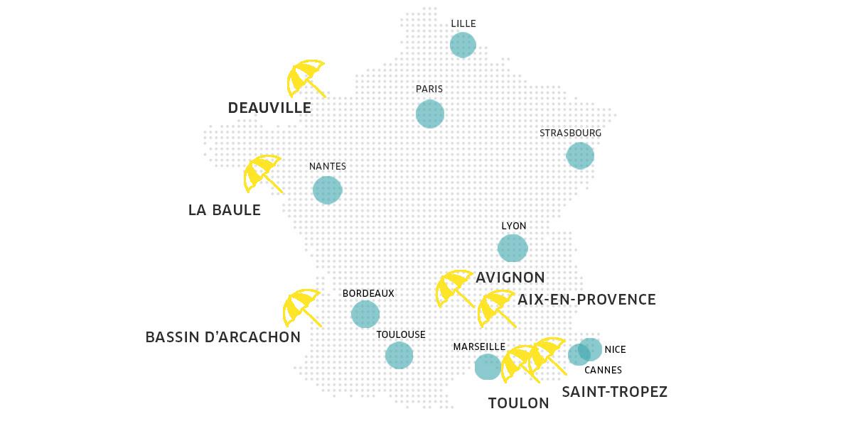 Deauville, Saint-Tropez, Avignon….Uber X s'invite sur vos lieux de vacances