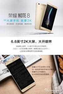 Honor Note 8 : l'énorme smartphone de Honor enfin officiel