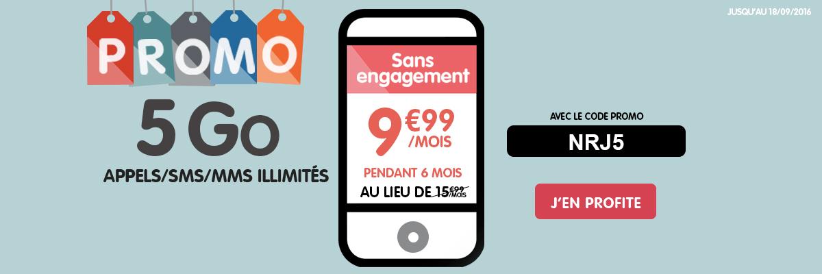 Woot 5 Go et 10 Go : NRJ Mobile lance ses promotions de rentrée