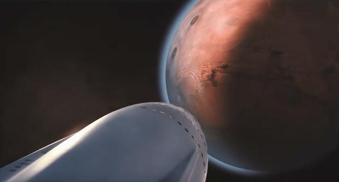 Sur Mars, les hommes vivront dans des dômes en verre selon Elon Musk