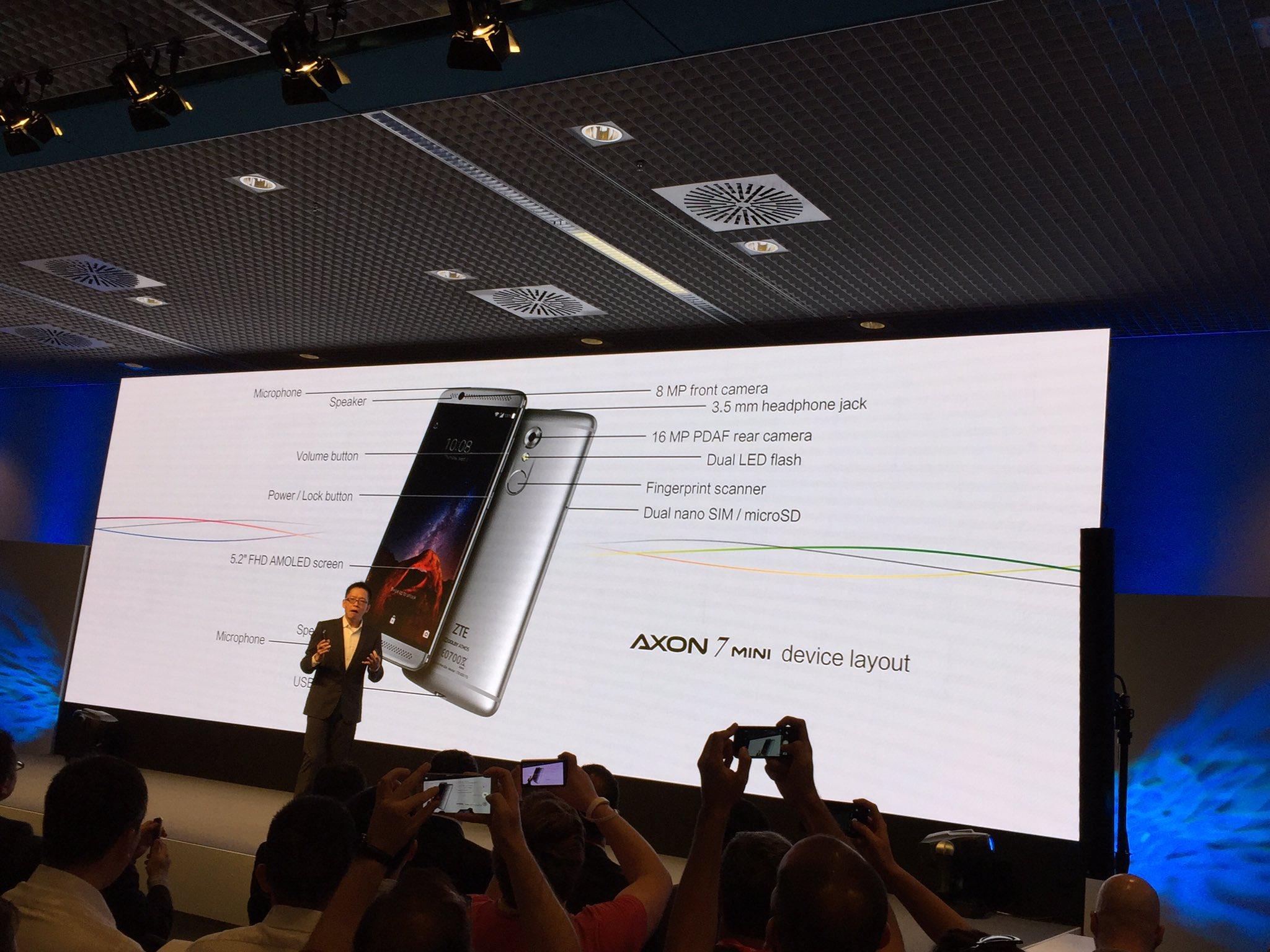 IFA 2016 : ZTE annonce l'Axon 7 mini et son écran de seulement 5,2 pouces