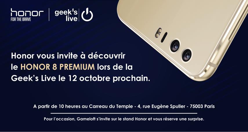 Le Honor 8 Premium sera annoncé la semaine prochaine