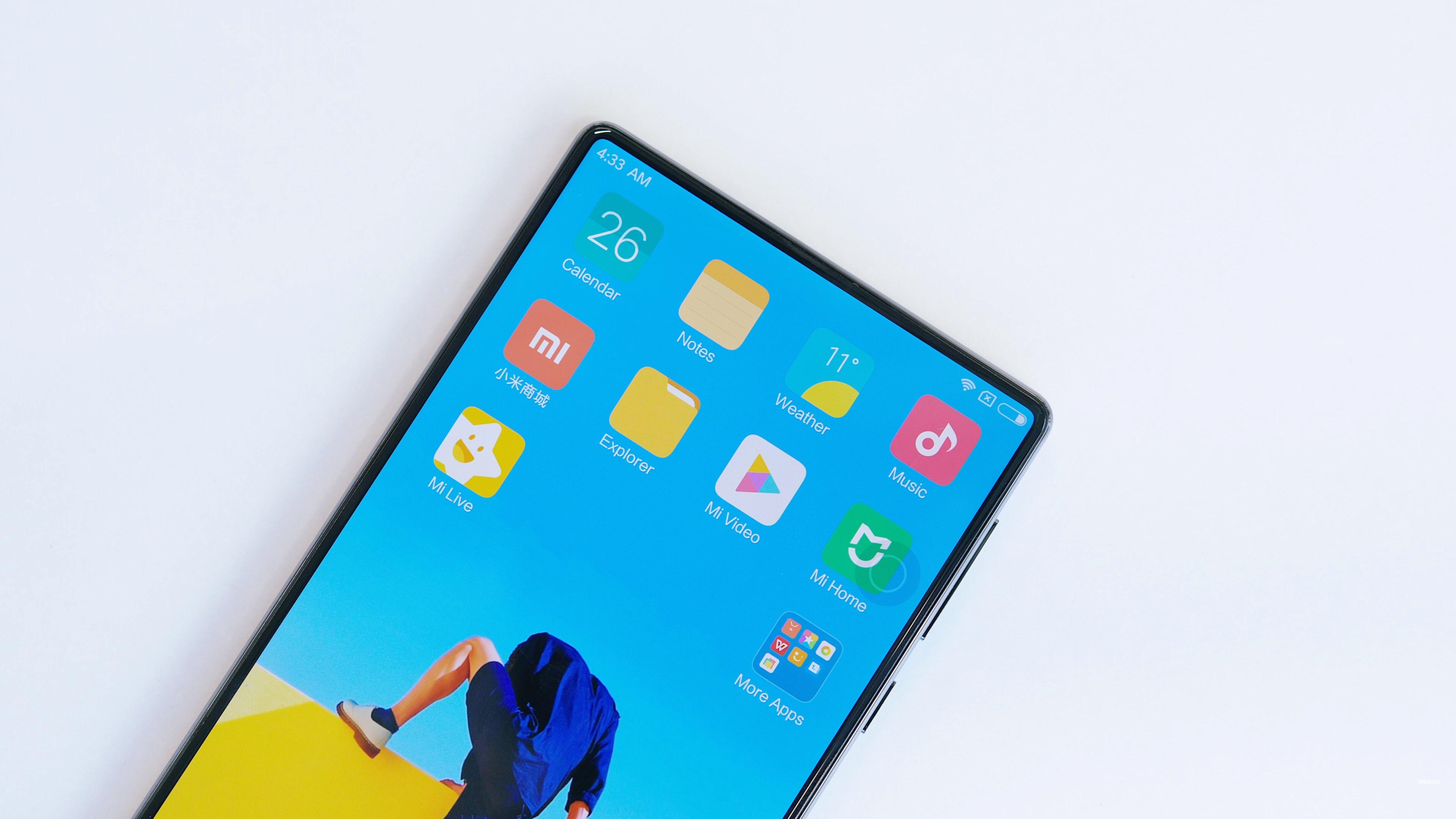 L'écran du Xiaomi Mi MIX a plus de marges qu'annoncé par le fabricant