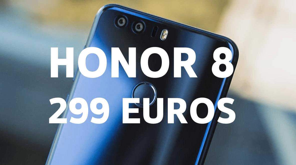 Honor 8 : 299 euros chez Amazon, avec un trajet Chauffeur Privé offert